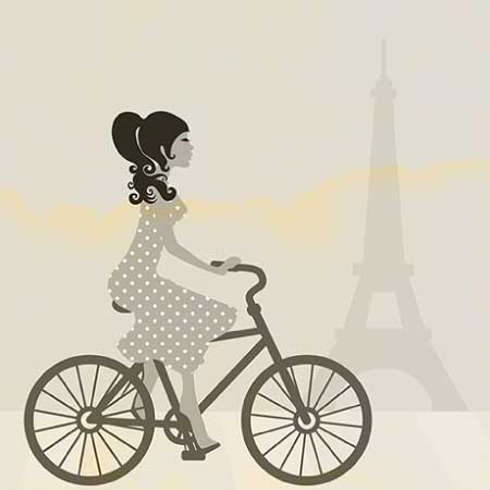 girl on bike drawing